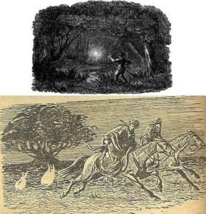 Ilustraciones de la Luz Mala o Farol de Mandinga