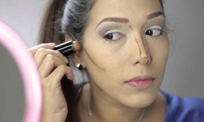 Sólo con maquillaje puedes hacer una verdadera cirugía en tu rostro.