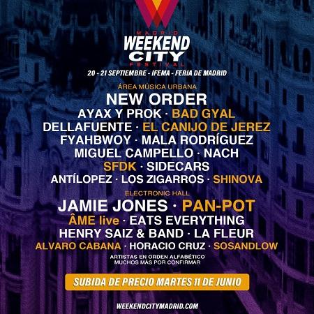 Cartel del Weekend City Madrid