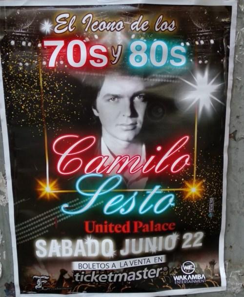 Camilo Sesto cartel en NY