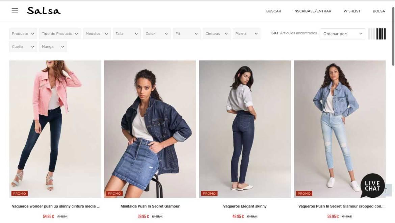 Zona outlet para mujer en Salsa Jeans