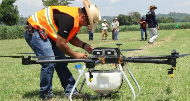 dron para fumigar arroz