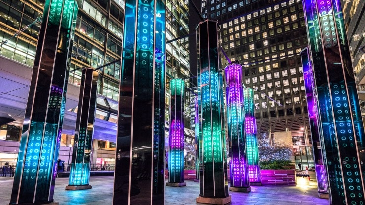 Winter Lights in Canary Wharf 2017