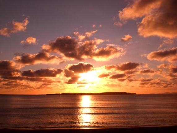 Puesta de sol en Punta Ballena