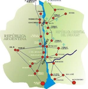mapa de Termas de Daymán