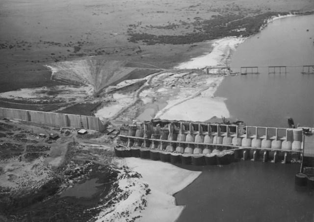 Construcción de la Represa Gabriel Terra