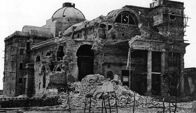 Iglesia destruida por asedio a Paysandú