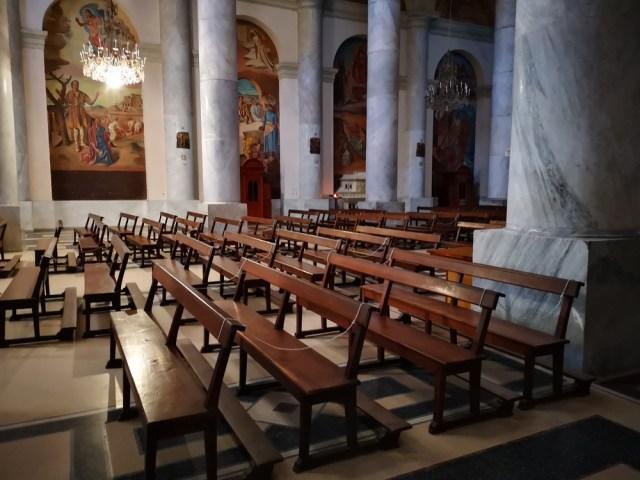 Bancos de la Catedral De san José de Mayo