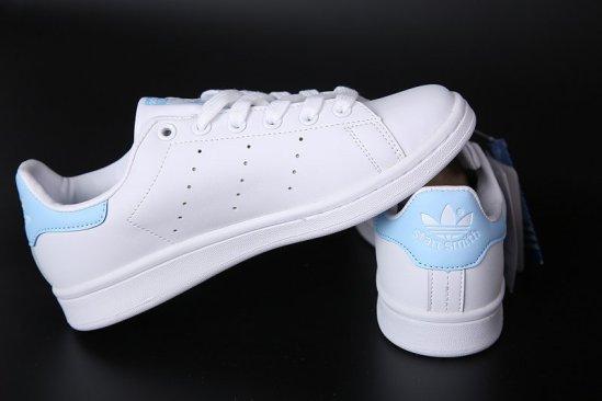 Adidas Stan Smith Blancas azul cielo 4