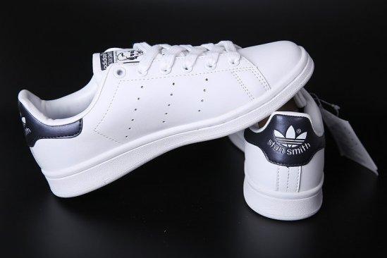 Adidas Stan Smith Blancas negro brillante 3