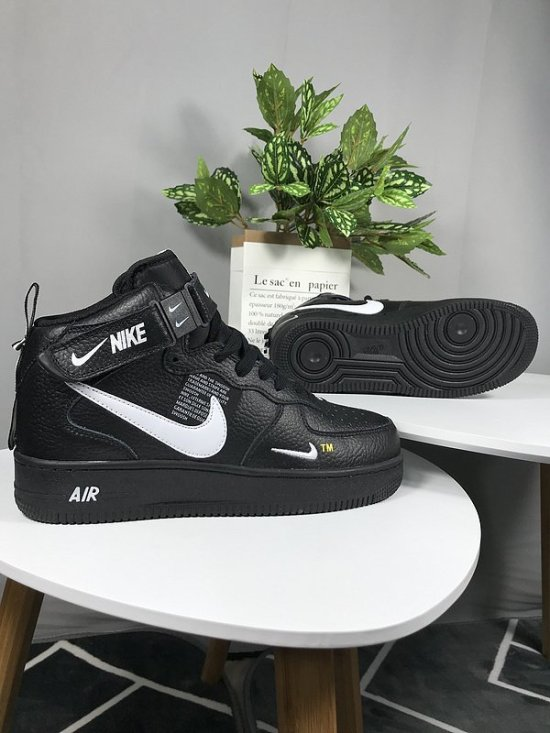 NIKE Air Force 1 High wrinkle effect Negras 1