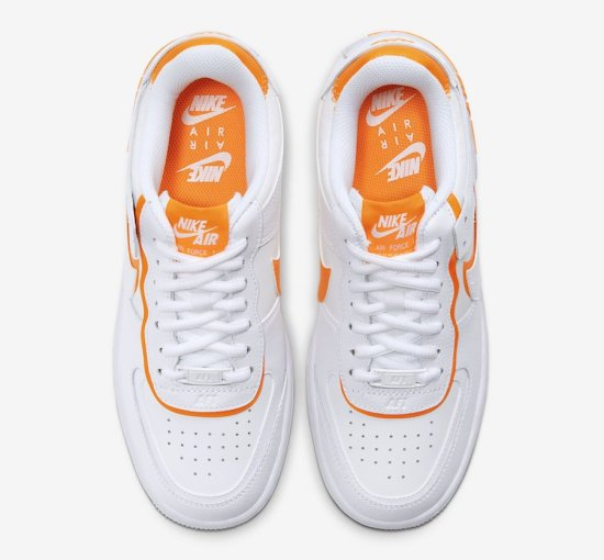 NIKE Air Force 1 Shadow Blancas y Naranjas 3