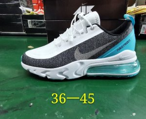 NIKE Air Max 270 V2 React Run Utility Blancas y Negras