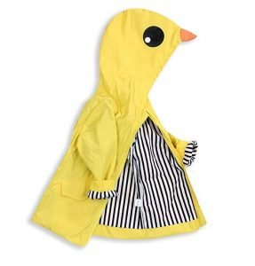 Toddler Baby Boy Girl Duck Raincoat Cute Cartoon Hoodie Zipper Coat Outfit