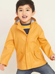 Water-Resistant Hooded Zip Jacket for Toddler Boys