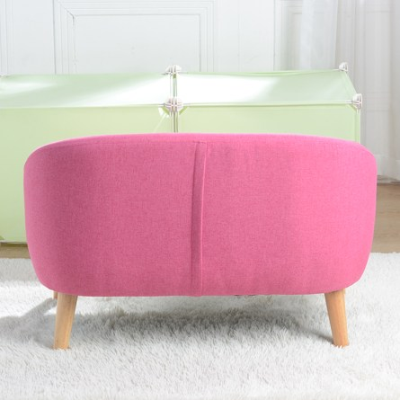 Children's Sofa with Sofa Cushion Removable and Washable Linen Rose Red