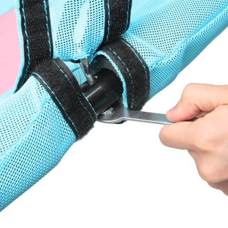 """40"""" Hexagon Swing with  2 Carabiners & Adjustable Rope(Pink & Blue)"""