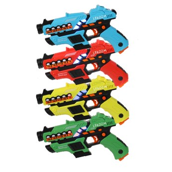 4 Small Laser Guns (Red/Yellow/Blue/Green)