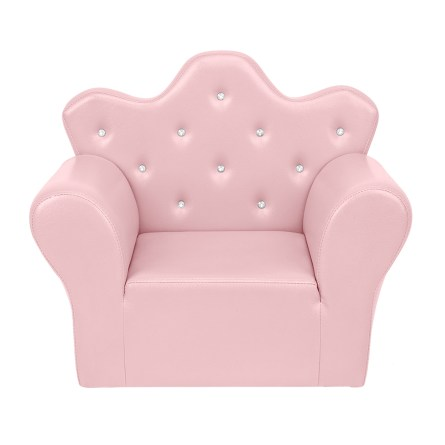 PVC Leather Princess Sofa Bright, Pink