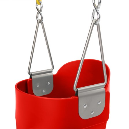 Highback Full Bucket Swing, Red