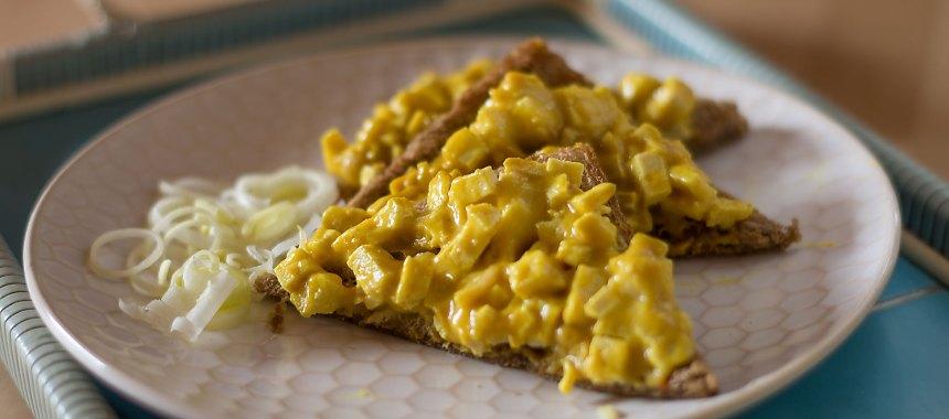 Veganer Eiersalat mit selbstgemachter Mayonnaise