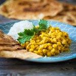 Curry mit Chana Dal und Mango