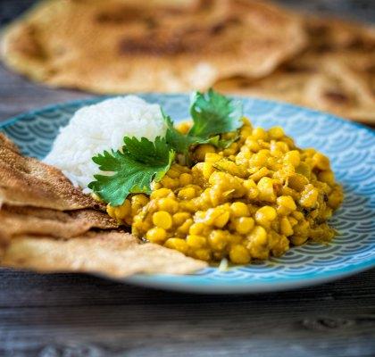Abbildung von fruchtig-scharfes Curry mit Chana Dal und Mango