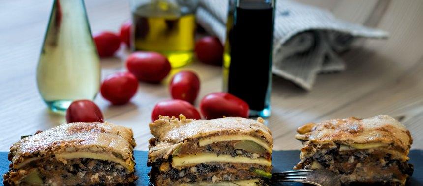 Champignon Mandel Lasagne al Forno