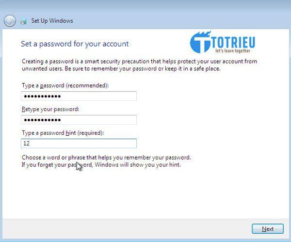 Đặt mật khẩu truy cập VPS Windows