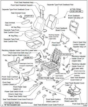 Toyota Highlander Service Manual: Front seat ASSY LH (power seat type)  Seat