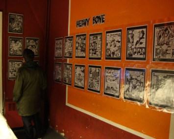 """Mostra di tavole originali di """"Heavy Bone"""", il fumetto di Enzo Rizzi"""