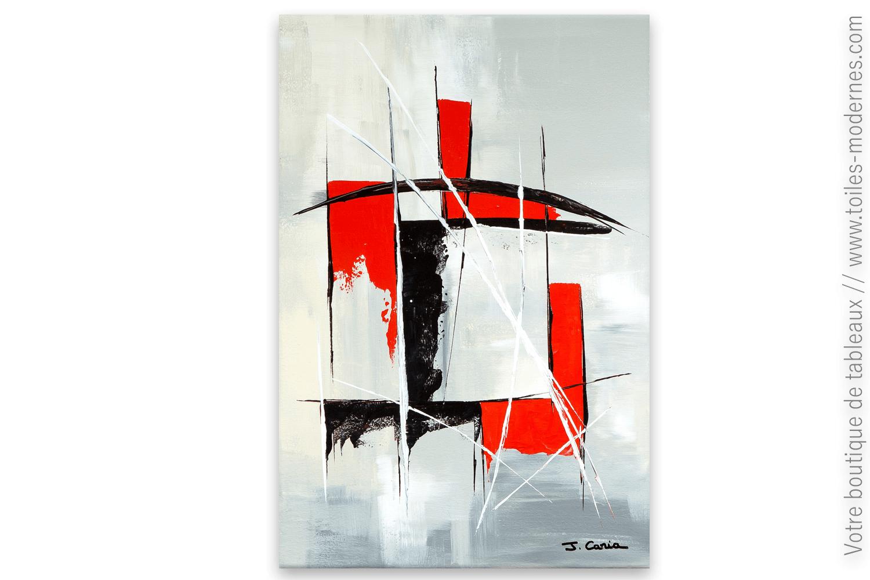 Tableau Abstrait Rouge Et Noir Combinaison