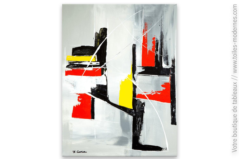 Peinture Sur Toile Abstraite Idee Fixe