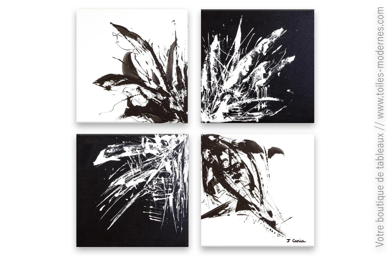 tableau noir et blanc design homogeneite