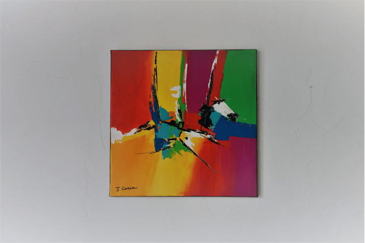 Tableau Abstrait Colore Un Joli Reve