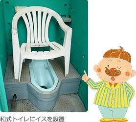 和式トイレにイスを設置