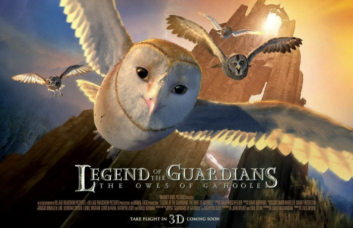 Legend Of The Guardians The Owls Of GaHoole UK movie poster quad