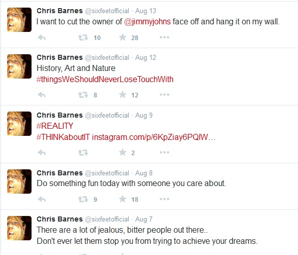 Chris Barnes's Twitter Account Is a Work of Found Poetry