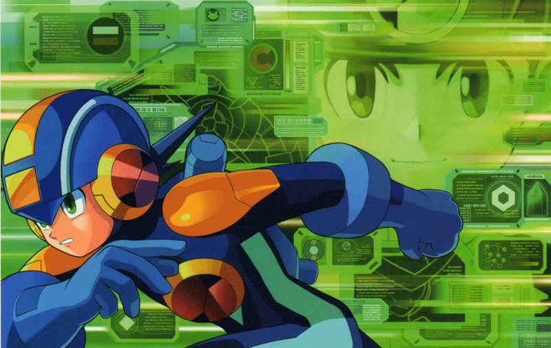 mega man battle network official art