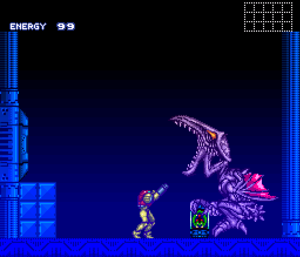 super metroid fight against ridley