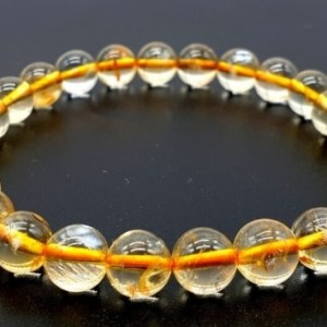 Bracelet Citrine Naturelle perles 8mm