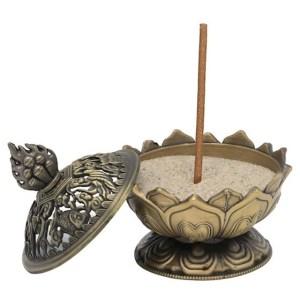 Brûle encens Lotus couleur bronze 1