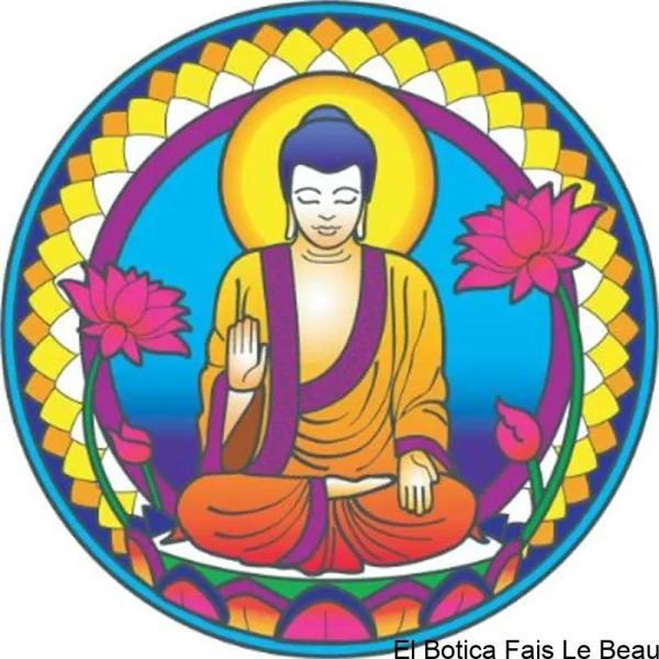 Adhésif fenêtre Bouddha nature