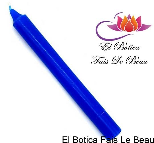 Bougie Teintée Masse 22cm - Bleu Marin