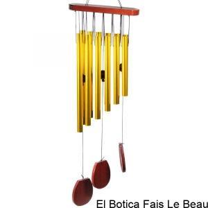 Carillon à vent 12 tubes et bois -- 70 cm