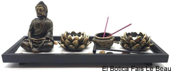 Jardin Zen Bouddha & Bougeoirs Lotus