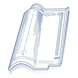 tuile de verre romane ref lr n 7 bis carton de 8 u