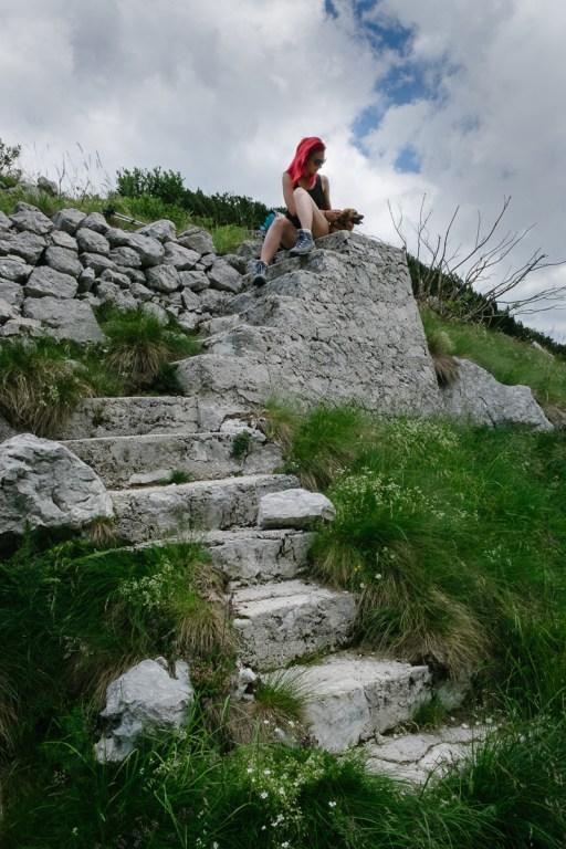 Na poti na Krasji vrh, med Bovcem in Kobaridom