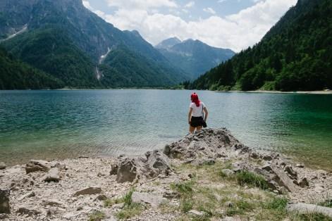 Rabeljsko jezero v italijanski občini Trbiž v Julijskih Alpah