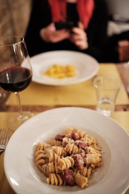 Večerja v Il Sorpasso, izlet v Rim